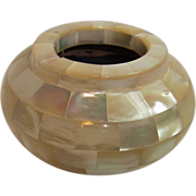 Vintage German Mother of Pearl Ashtray