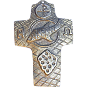 Mid Century Communion Brass Cross 1968