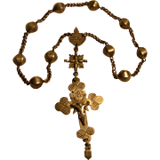 Antique German Silver Plated Memory Rosary ca.1880