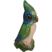 Vintage German Porcelain Perfume Lamp Night Light Cockatoo or Parrot