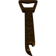 Vintage German Brass Bottle Opener Zodiac