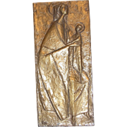 Brass Plaque Pope John Paul II1988 in Austria yes to believe yes to life