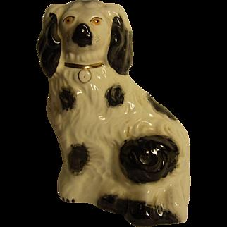 Vintage Old England Beswick Dog Black / White
