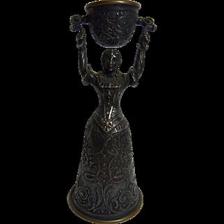 Antique German Silvered and Brass Nuremberg Wedding Cup