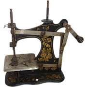 Antique German Tin Toy Sewing Machine 1900 - Red Tag Sale Item