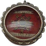 Vintage German Pendant with Relic Inside