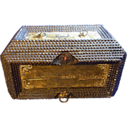 Antique German Tramp Art Box with Drawer Reservist
