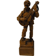 Vintage Italy Carved Wood ANRI Musician