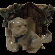 Antique German Pug Dog Table Vase 1900