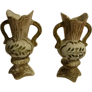 Pair Antique German Dollhouse or Doll Accessory Vases ca.1900