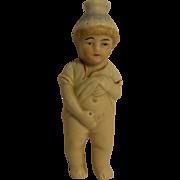 Antique German Bisque Porcelain Pee Boy Doll Bottle
