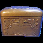 Art Nouveau German Copper Box Signed