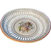 Vintage German Graniteware Enamel Bread Bowl Flower Motive - Red Tag Sale Item