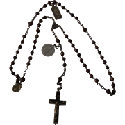 Antique Rosary with Relic Cross