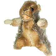 Vintage German Steiff Beaver with Button