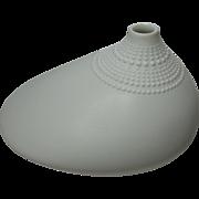 Vintage German Rosenthal White Matt  Polo Vase Tapio Wirkkala - Red Tag Sale Item