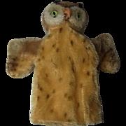 Vintage German Steiff Owl Hand Puppet