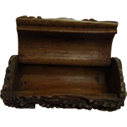 Antique German Deer Antler Snuff Box Black Forest
