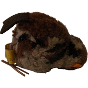 Vintage German Steiff Wool Bird Sparrow