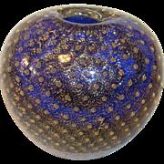 Small Vintage Italy Murano Vase Air Bubble