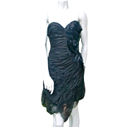 Christophe Josse Haute Couture feathers embroidered dress