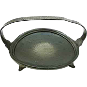 Antique English Arts and Crafts Pewter Dish 1910-1920, D 23.5 cm
