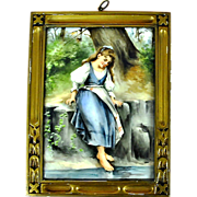 Limoges France hand painted plaque.