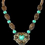 1920s Czech Peking Glass Necklace
