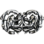 Belt Buckles, Victorian, Griffon Motifs
