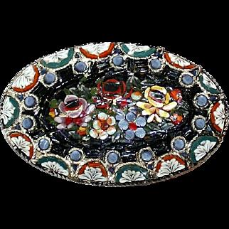 Italian Micro-Mosaic Oval Brooch