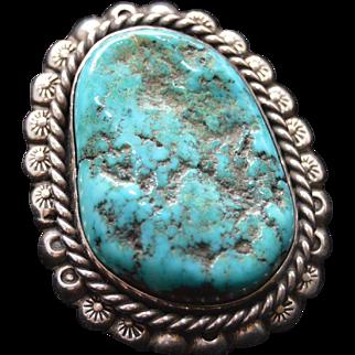 Vintage Turquoise/Silver Pendant