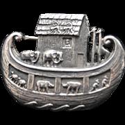 James Avery Sterling Silver Noah's Ark Brooch
