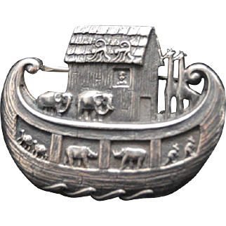 James Avery Sterling Silver Noah's Ark Brooch