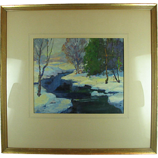 Georges Lachance Impressionist Oil Painting Landscape Brown County Indiana La Chance