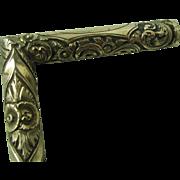 Antique Walking Stick Thin Ebony Gold Filled Handle cane