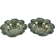 Two Francis 1 Sterling Silver Nut Dishes Reed & Barton Vintage