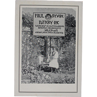 Rare Original Paul Revere/SEG Pottery Dealer Price Catalog/In Color/1920s-30s