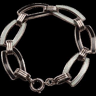 Art Deco Guilloche Enamel Bracelet