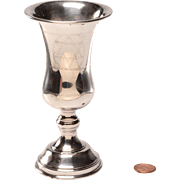 Vintage Sterling Kiddush Cup, Baluster Shape