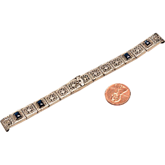 1920's White Gold Filled Watch Band
