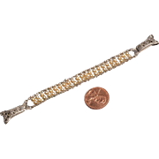 1920s Art Deco White Gold Filled Stretch Replacement Watch Band