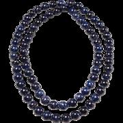 1950's Denim Sodalite 8mm Bead Necklace