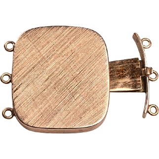 14kt Gold Mid Century Clasp