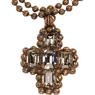 Vintage Sorrelli Bead and Crystal Necklace