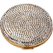 Vintage Judith Lieber Swarovski Crystal Powder Compact - unused,