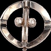 Mid Century Sterling Scandinavian Brooch