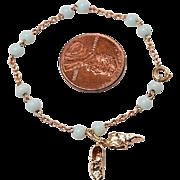 Vintage 14kt BABY SHOES Charm Bracelet