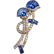Art Deco-Egyptian Revival Costume Brooch