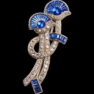 Art Deco-Egyptian Revival Costume Brooch