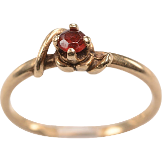 Early 1900's Ruby, 14kt Yellow Gold Ring